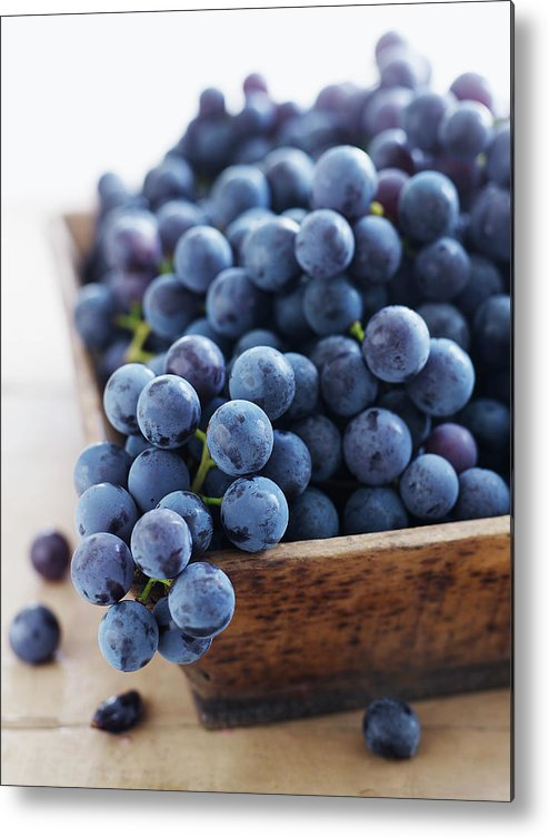 Bunch Metal Print featuring the photograph Concord Grapes by Alexandra Grablewski