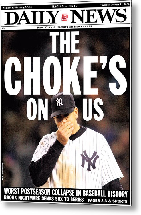 Playoffs Metal Print featuring the photograph Front Page Of The New York Daily News by New York Daily News Archive