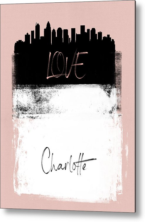 Charlotte Metal Print featuring the mixed media Love Charlotte by Naxart Studio