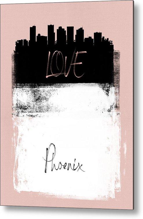 Phoenix Metal Print featuring the mixed media Love Phoenix by Naxart Studio