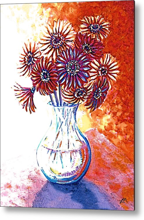 Flowers Metal Print featuring the painting Radiant Array by Linda Mears