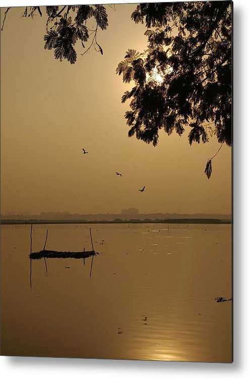 Sunset Metal Print featuring the photograph Sunset by Priya Hazra