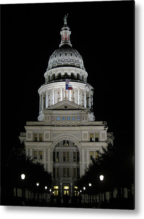 Shadow Metal Print featuring the photograph Texas Capitol II - Austin by Borsheim