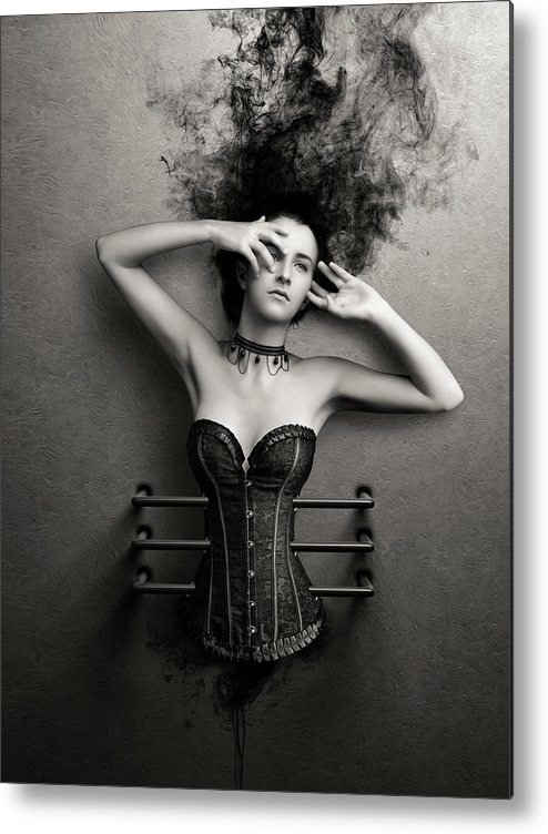 Woman Metal Print featuring the photograph Trapped by Johan Swanepoel
