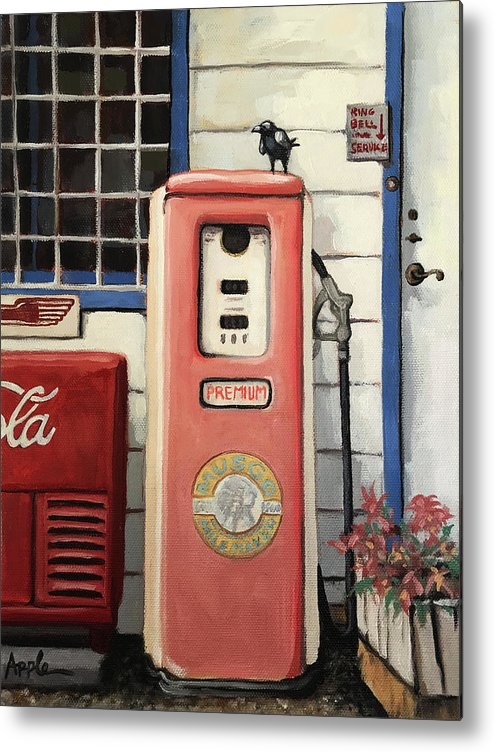 Ring Bell For Service /vintage Gas Pump Metal Print