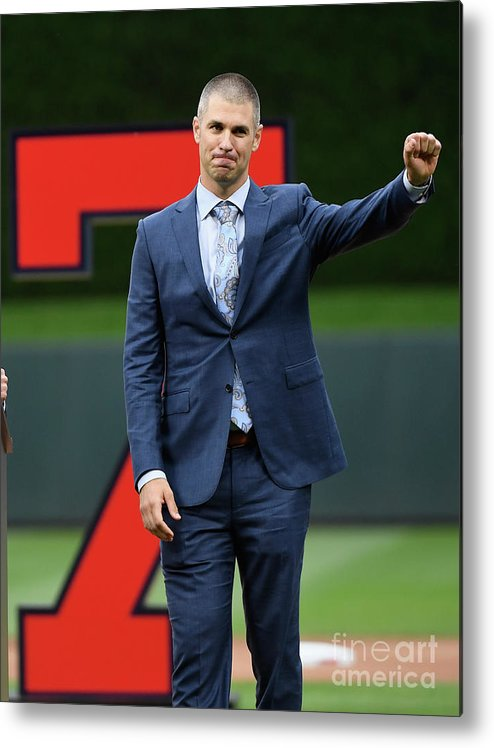 Crowd Metal Print featuring the photograph Joe Mauer by Hannah Foslien