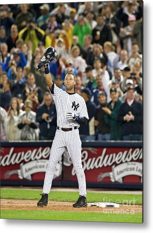 People Metal Print featuring the photograph Lou Gehrig And Derek Jeter by Icon Sports Wire
