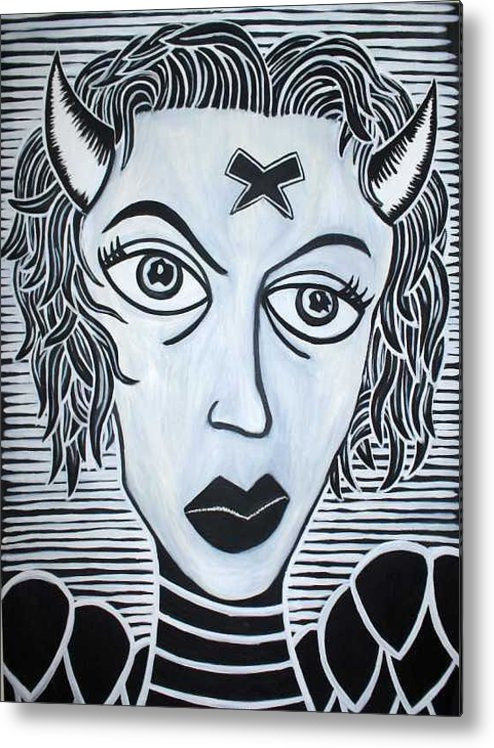 Metal Print featuring the painting Devil by Thomas Valentine