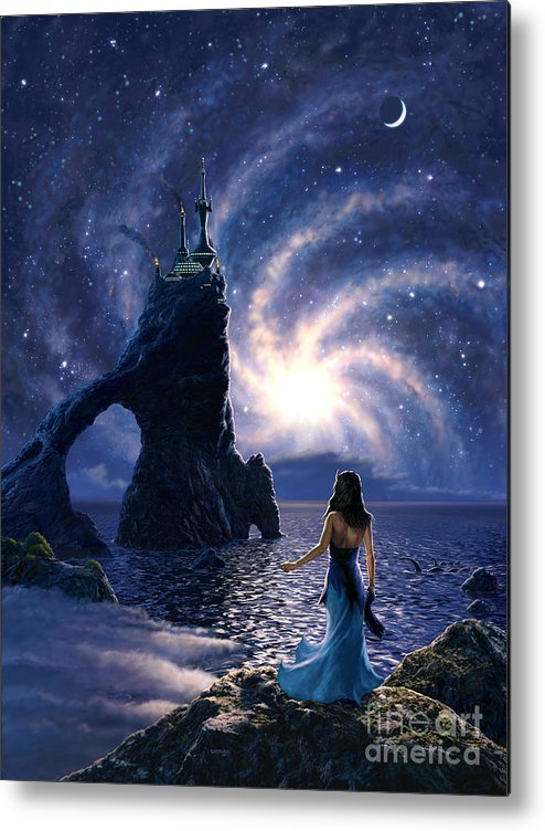 Space Metal Print featuring the painting Far Synura by Stu Shepherd