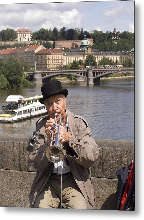 Prague Metal Print featuring the photograph Rollin Or The River by Charles Ridgway