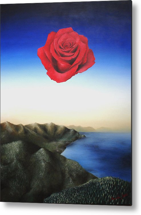 Rose Metal Print featuring the painting Rosamund by Massimiliano Stanco