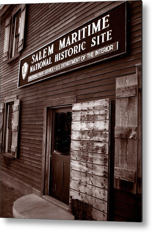 Salem Metal Print featuring the photograph Salem Maritime by Heather Weikel