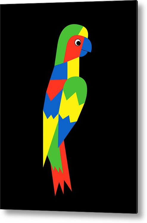 Parrot Metal Print featuring the digital art Parrot by Asbjorn Lonvig