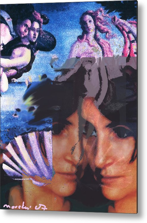 Human Composition Metal Print featuring the digital art Renissane Women by Noredin morgan