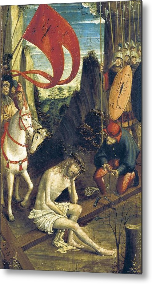 Vertical Metal Print featuring the photograph Ferrari, Defendente 1480-1540. Christ by Everett