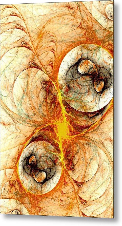 Computer Metal Print featuring the digital art Fiery Birth by Anastasiya Malakhova
