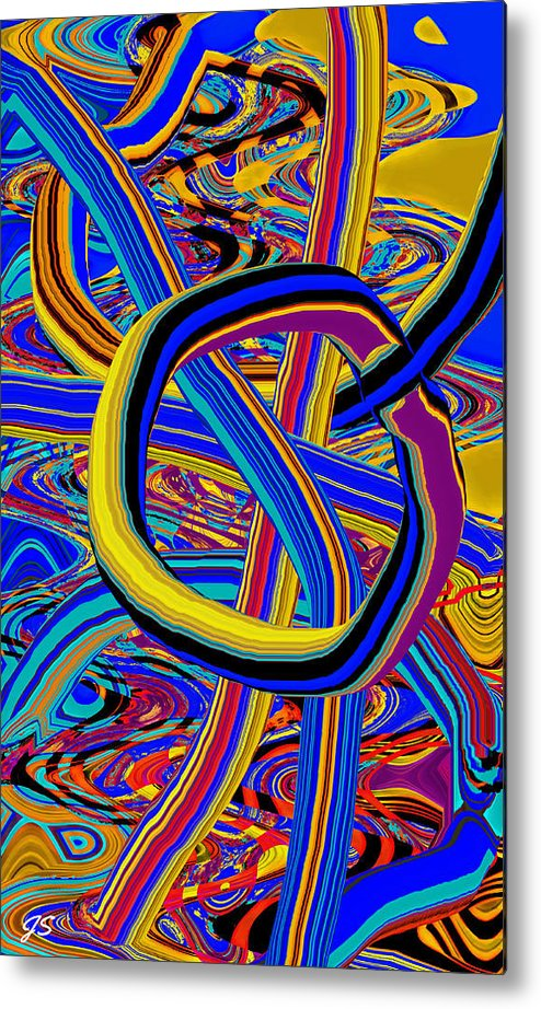 Abstract Metal Print featuring the digital art Whatevder by John Saunders