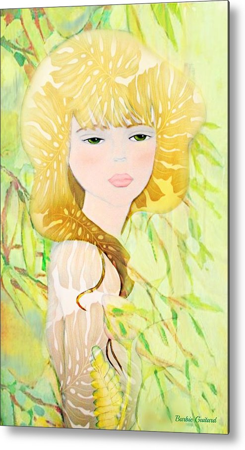 Botanical Metal Print featuring the painting After The Rain by Barbie Guitard