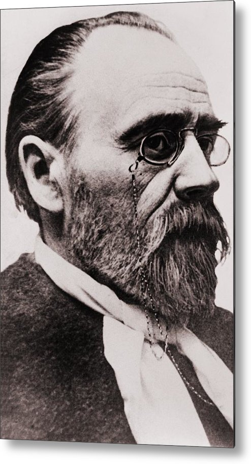 Historical Metal Print featuring the photograph Emile Zola 1840-1902, French Novelist by Everett