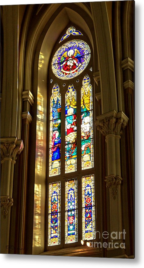 St Michael's Basilica Metal Print featuring the photograph Stained Glass Of St Michaels Basilica by Patricia L Davidson