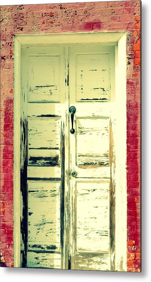 Door Metal Print featuring the photograph Way Back Then by Robin Dickinson
