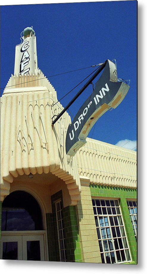 66 Metal Print featuring the photograph Route 66 - Conoco Tower Station by Frank Romeo