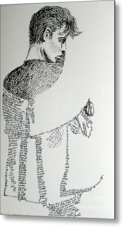 Language Metal Print featuring the drawing Language Of Cloth by Tanni Koens