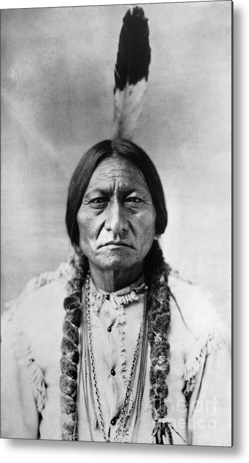 19th Century Metal Print featuring the photograph Sitting Bull 1834-1890. To License For Professional Use Visit Granger.com by Granger