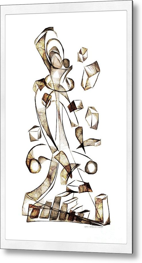 Abstraction Metal Print featuring the digital art Abstraction 2256 by Marek Lutek