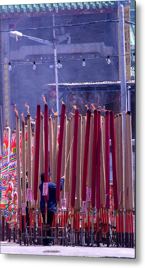 Incense Metal Print featuring the photograph Burning Confusion by Mark Mah