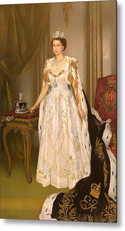 Coronation Portrait Of Queen Elizabeth Ii Of The United
