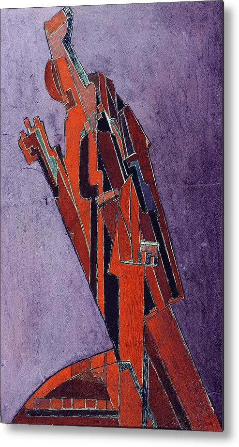 Figure Metal Print featuring the painting Figure Study Design For Sculpture by Lawrence Atkinson