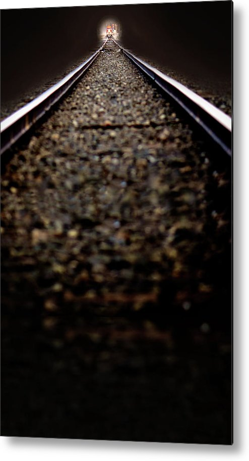 Train Metal Print featuring the photograph Hurtling Toward Me by Lisa Knechtel