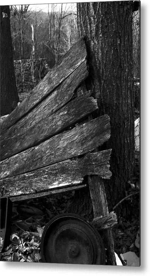 Metal Print featuring the photograph Olddoornextdoor21-23 by Curtis J Neeley Jr