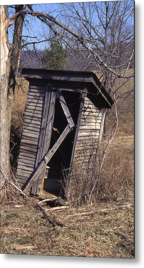 Metal Print featuring the photograph Outhouse3 by Curtis J Neeley Jr