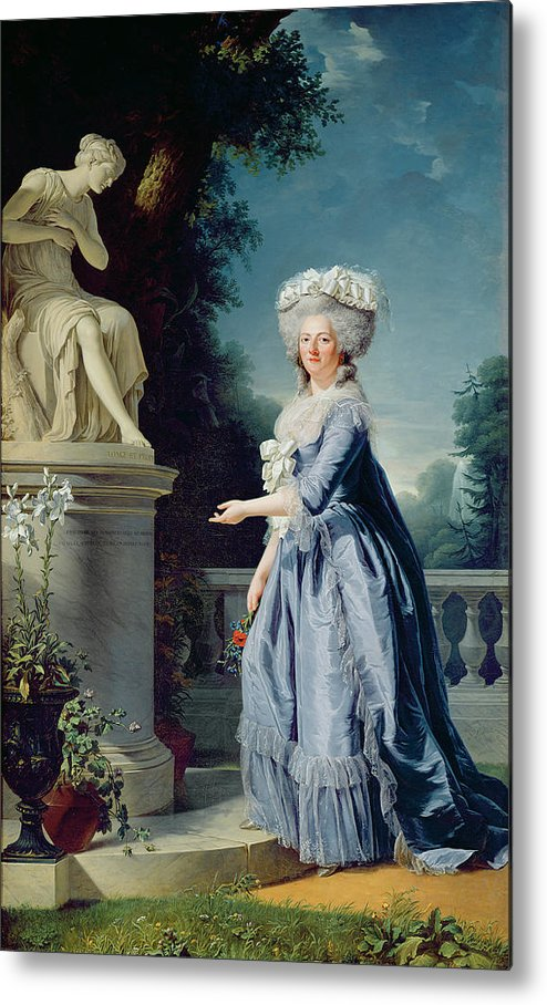 Portrait Metal Print featuring the painting Portrait Of Marie-louise Victoire De France by Adelaide Labille-Guiard