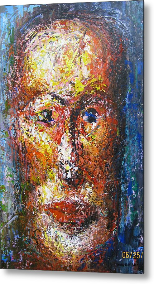 New Interpretation Of A Self Portrait Metal Print featuring the painting Portraying Life by Shant Beudjekian