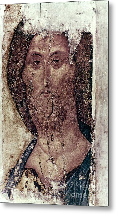 15th Century Metal Print featuring the photograph Russian Icons: The Saviour by Granger