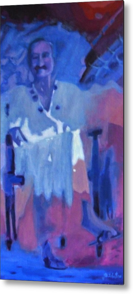 Meher Baba Paintings Metal Print featuring the painting Baba In Tent by Joe DiSabatino