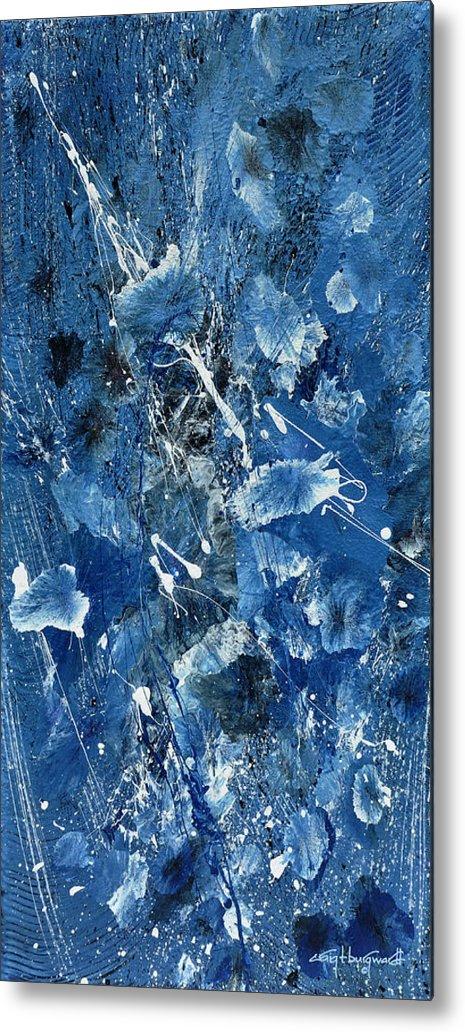 Blue Metal Print featuring the painting Blue Garden by Craig Burgwardt
