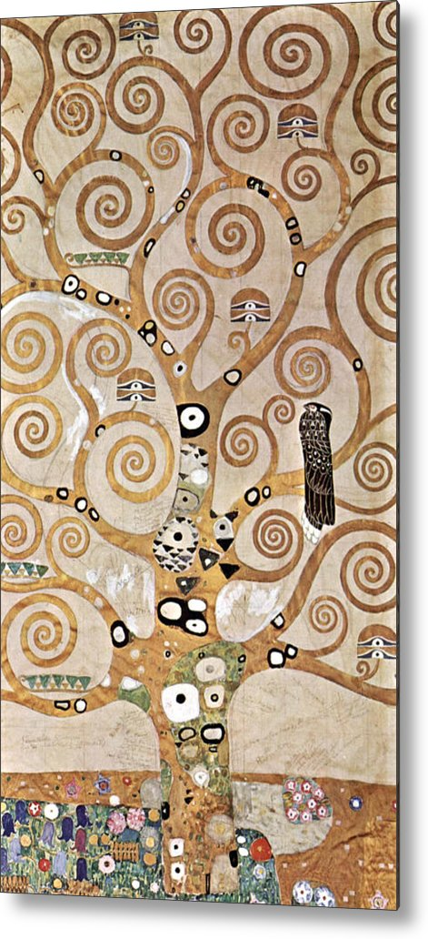 Gustav Klimt Metal Print featuring the painting Tree Of Life - Lebensbaum by Masterpieces Of Art Gallery