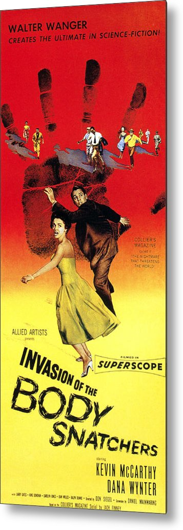 1950s Poster Art Metal Print featuring the photograph Invasion Of The Body Snatchers, Center by Everett