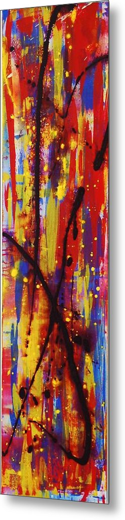 Abstract Metal Print featuring the painting Urban Carnival by Lauren Luna