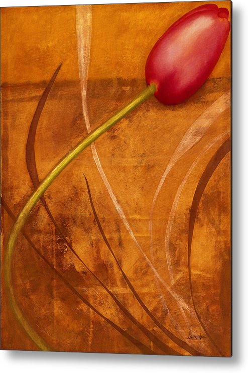 Metal Print featuring the painting Tulips Are People Xi by Jerome Lawrence