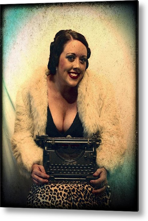 Vintage Metal Print featuring the photograph Typewriter Erotica by Eric D Lough