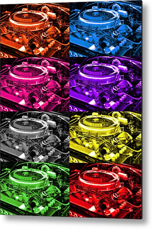 1970 Metal Print featuring the photograph 426 Hemi Head Pop by Gordon Dean II