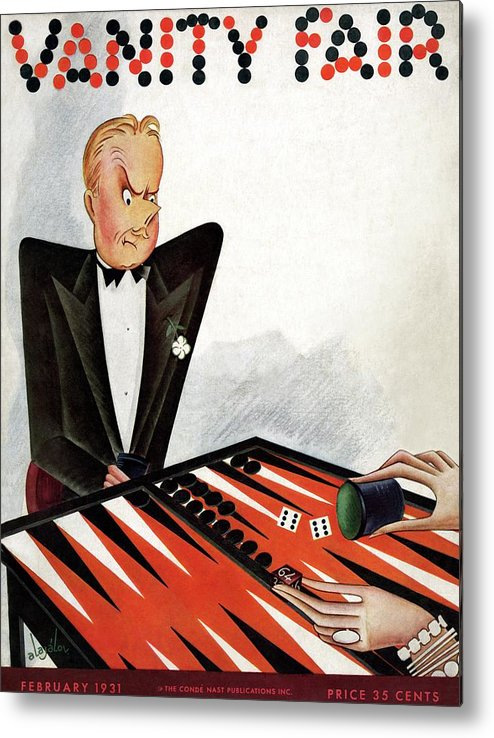 Illustration Metal Print featuring the photograph A Magazine Cover For Vanity Fair by Constantin Alajalov