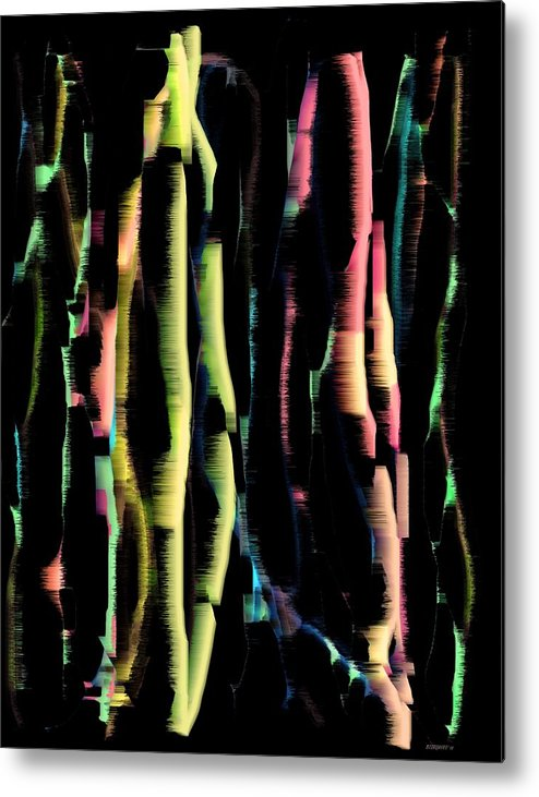 Abstract Art Metal Print featuring the digital art Abstract Vertical Designs by Mario Perez
