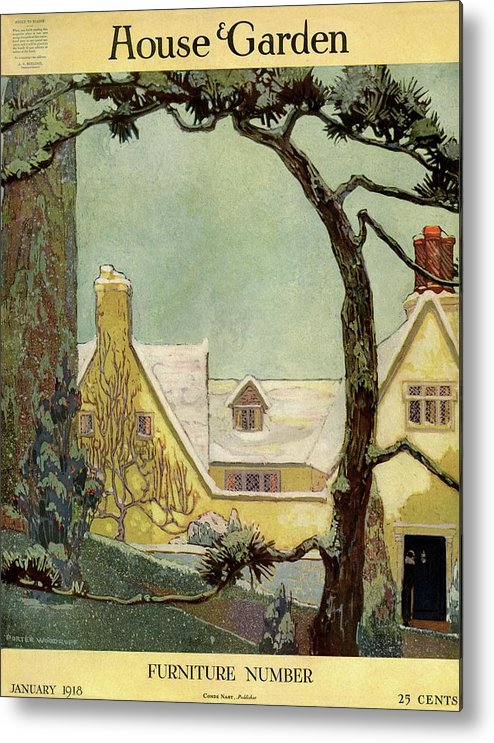 House And Garden Metal Print featuring the photograph An English Country House by Porter Woodruff