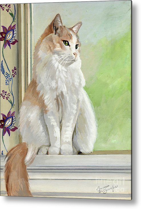 Cats Metal Print featuring the painting Angel Daydreams by Suzanne Schaefer